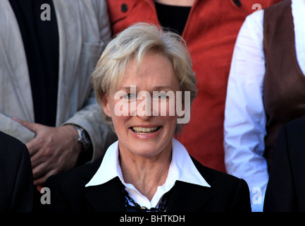 GLENN CLOSE GLENN CLOSE HONORED WITH A STAR ON THE HOLLYWOOD WALK OF FAME HOLLYWOOD LOS ANGELES CA USA 12 January - Stock Photo