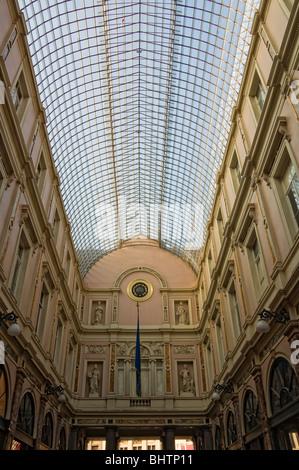 Royal Galleries of Saint Hubert, Brussels, Brabant, Belgium - Stock Photo