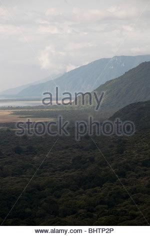 Rift valley at Lake Manyara, Tanzania. - Stock Photo