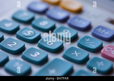 macro close up of the keys on a calculator - Stock Photo