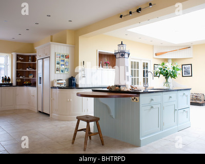cream island unit in large cream country kitchen extension