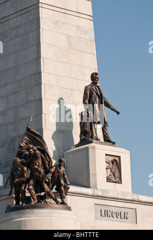 Heroic statues on Lincoln Tomb in Springfield, Illinois Stock Photo