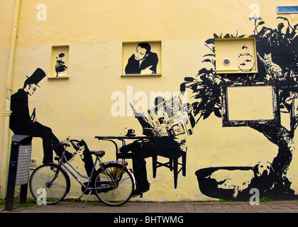 Street Art, Haarlem, Holland - Stock Photo