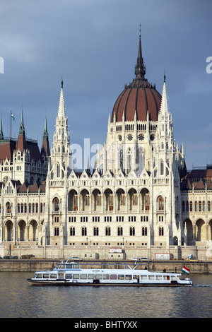 The Parliament Building in Budapest, Hungary - Stock Photo