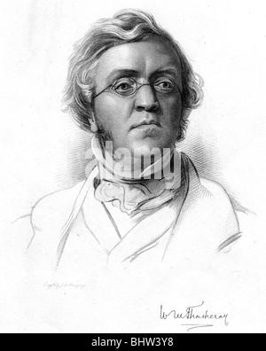 WILLIAM  MAKEPEACE THACKERAY - English novelist (1811-63) - Stock Photo