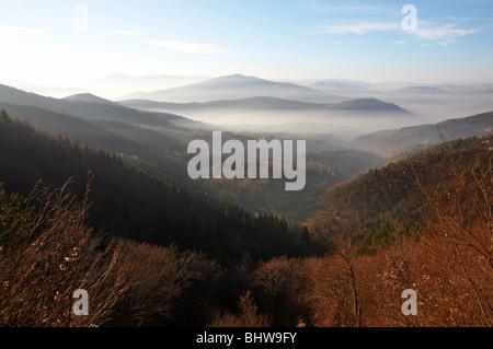 Mountain landscape, Sarajevo, Bosnia and Herzegovina - Stock Photo
