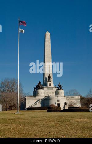 Abraham Lincoln Tomb in Springfield, Illinois - Stock Photo