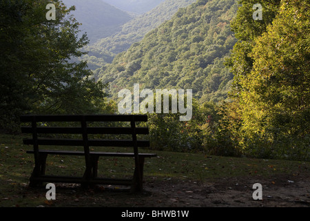 View of Appalachian Mountains in West Virginia in USA United States National forest overlook overlooking - Stock Photo