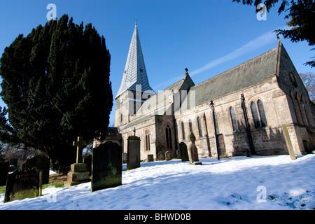 The Holy Cross Church, Ryton Village,near Gateshead Tyne and Wear - Stock Photo