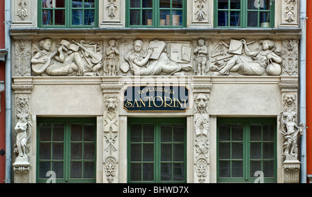 Low relief at Długi Targ (Long Market) in Gdańsk, Pomorskie, Poland - Stock Photo