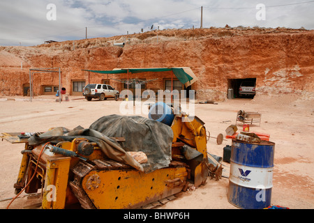In Cooper Peddy (in the Outback) 60 percent of the people live underground, often in old mines (Outback, South Australia) - Stock Photo