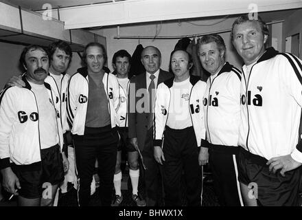 Jimmy Greaves June 1977 1966 World Cup Commemoration and Royal jubilee international 5-a-side held at Wembley. l - Stock Photo