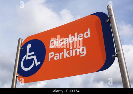 Disabled Parking Sign - John Gollop - Stock Photo