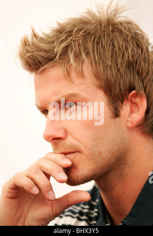 World Cup 2006: England captain David Beckham at press conference in Baden Baden, Germany. June 2006 - Stock Photo