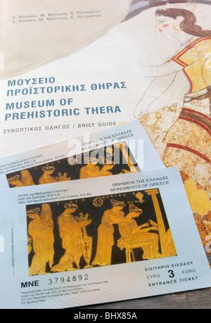 Cyclades, Santorini, Thira. Museum of Prehistoric Thera ...