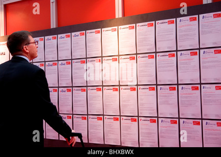 Hannover Messe 2009, the world`s most important technology event, Jobs for free. Federal Republic of Germany, Lower Saxony,