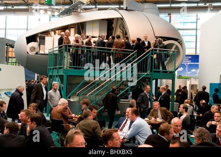 Hannover Messe 2009, the world`s most important technology event, machine cabin of a pin wheel. Federal Republic - Stock Photo