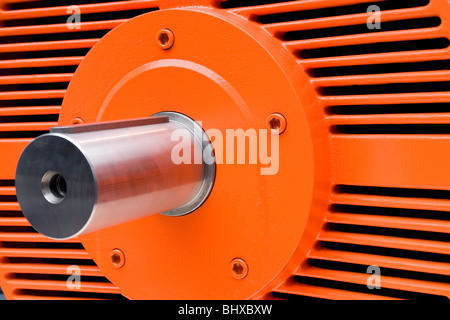 Hannover Messe 2009, the world`s most important technology event, Three-phase a.c. motor. Federal Republic of Germany, - Stock Photo
