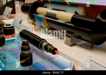 Hannover Messe 2009, the world`s most important technology event, Submarine Power Cable. Federal Republic of Germany - Stock Photo