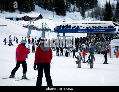 skilift in Hemsedal, Norway - Stock Photo