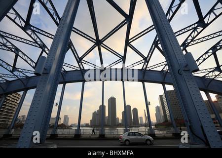 Eitai Bridge, Chuo, Tokyo, Japan - Stock Photo