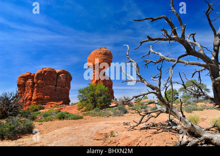 Horizontal view of Balanced Rock in Arches National Park, near Moab, Utah, United States of America