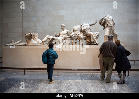 The British Museum, London, Britain,UK.Visitors from home and abroad visiting the Britsh Museum in London,England.Elgin - Stock Photo