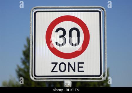 Tempo 30 zone - Stock Photo