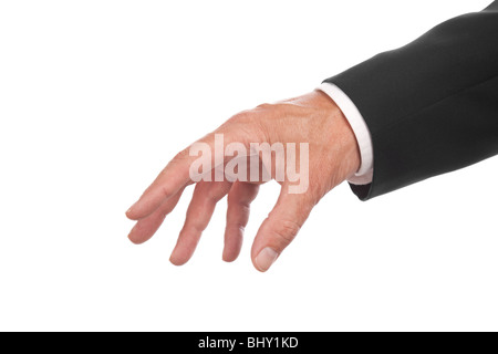 male hand ,isolated on white background - Stock Photo