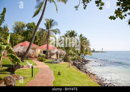 Casa Canada Hotel, Big Corn Island, Nicaragua - Stock Photo