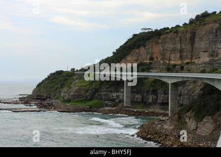 The Sea Cliff Bridge on The Grand Pacific Highway, south of Sydney - Stock Photo