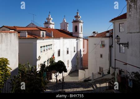 Sao Miguel Church in Alfama District. Lisbon, Portugal. - Stock Photo