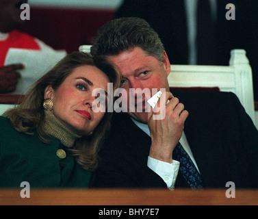 HILLARY CLINTON & BILL CLINTON PRESIDENT & 1ST LADY OF U.S.A. 20 March 1992 - Stock Photo