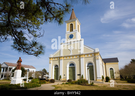 St. Martin de Tours Catholic Church, St. Martinville, Louisiana - Stock Photo