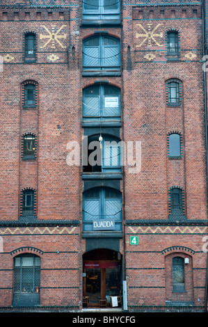 Old warehouse at historic Speicherstadt district in Hamburg Germany - Stock Photo