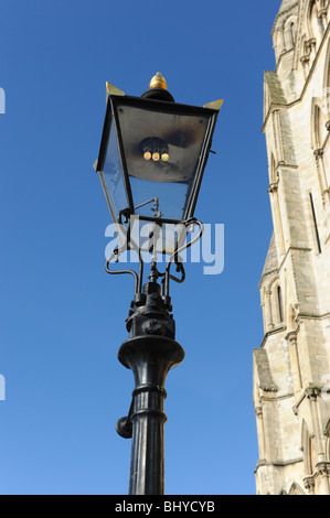 Gas street lamps City of York in North Yorkshire England Uk - Stock Photo