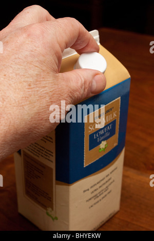 Reduced fat milk - Stock Photo