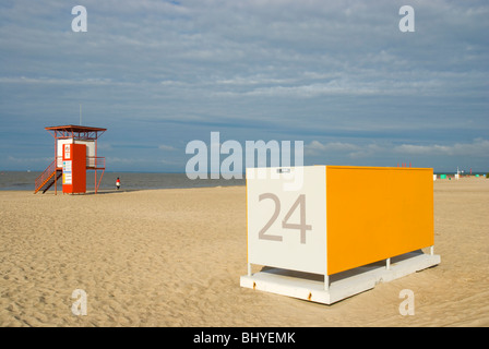 Beach Pärnu Estonia Europe - Stock Photo