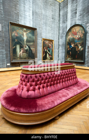 Rubens Room at Royal Museum for Fine Arts in Antwerp Belgium - Stock Photo