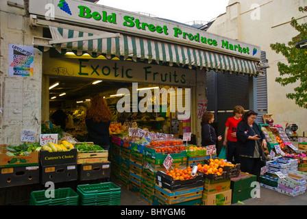 Bold Street Produce Market the Ropewalks area Liverpool England UK Europe - Stock Photo