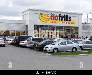 NoFrills store in Toronto Ontario Canada - Stock Photo