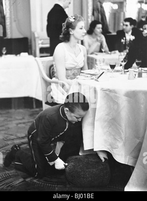 Young boy working at the Trocadero Restaurant, Leicester Square, Westminster, London, 1939. - Stock Photo
