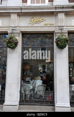 Bettys cafe and tea rooms City of York in North Yorkshire England Uk - Stock Photo