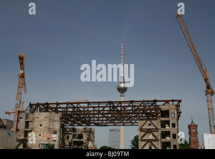 remains of Palace of the Republic Palast der Republik during demolition Berlin Germany  May 2008 - Stock Photo