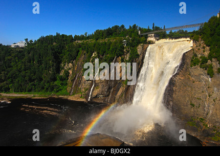 The natural spectacle of the Montmorency Falls, Beauport, Quebec City, Canada - Stock Photo