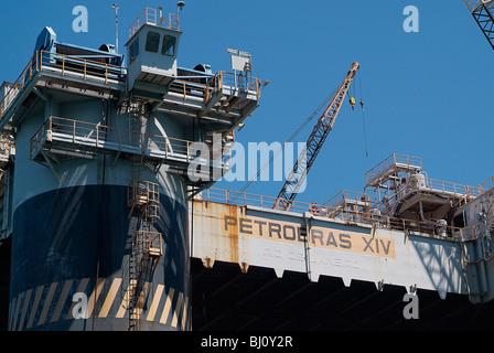 The oil platform of Petrobras, Rio de Janeiro, Brazil - Stock Photo