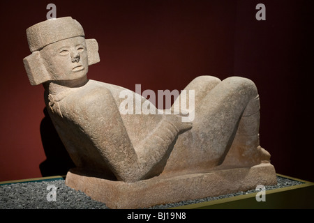 Chac Mool from Chichen Itza. Mayan-Toltec sculpture from 800-900AD. Museum of Archeology, Merida, Yucatan, Mexico - Stock Photo
