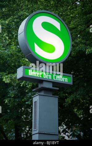 S-Bahn Unter den Linden Berlin, Germany - Stock Photo