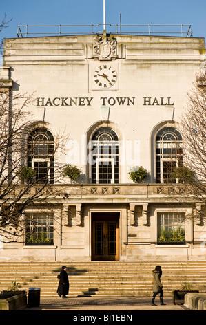 Hackney Town Hall, Hackney, E9, London, United Kingdom - Stock Photo