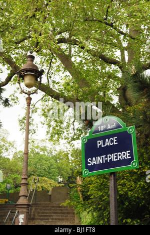 Paris france urban park montmartre cemetery statue of - Place saint pierre paris ...